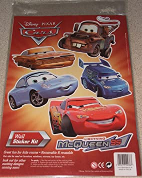 Disney Cars Wall Stickers Amazon Co Uk Toys Games