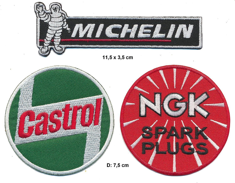 Castrol Michelin NGK Patches Aufn/äher 3 St/ück Auto Motorsport Rennsport Racing