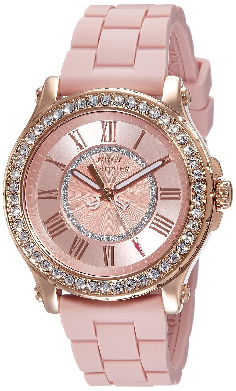 Juicy Couture - 1901054 Damen-Armbanduhr-Quarz-Analog Kautschuk Rosa
