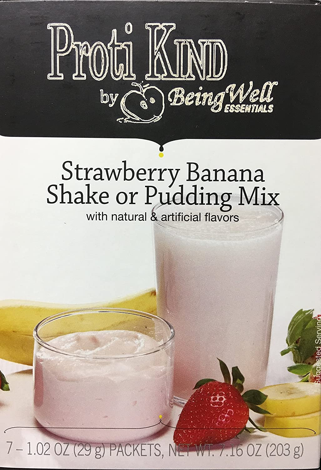 Amazon.com: Proti Kind High Protein Diet Shake & Pudding - Low Calorie - Low Sugar - Low Carbs (7 servings) (Lemon Raspberry): Health & Personal Care