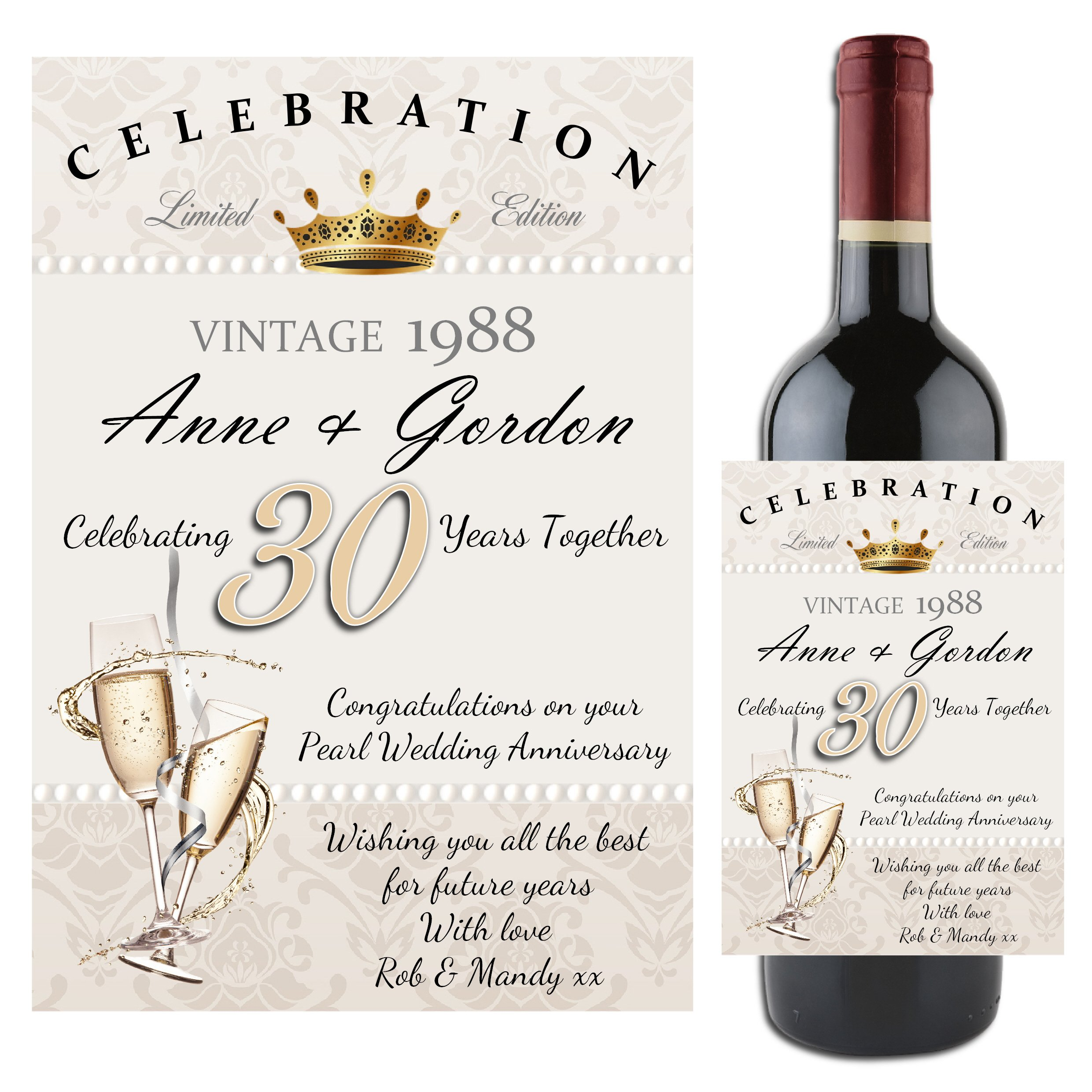 30th Wedding Anniversary Gift Ideas For Parents: 30th Wedding Anniversary Gifts: Amazon.co.uk
