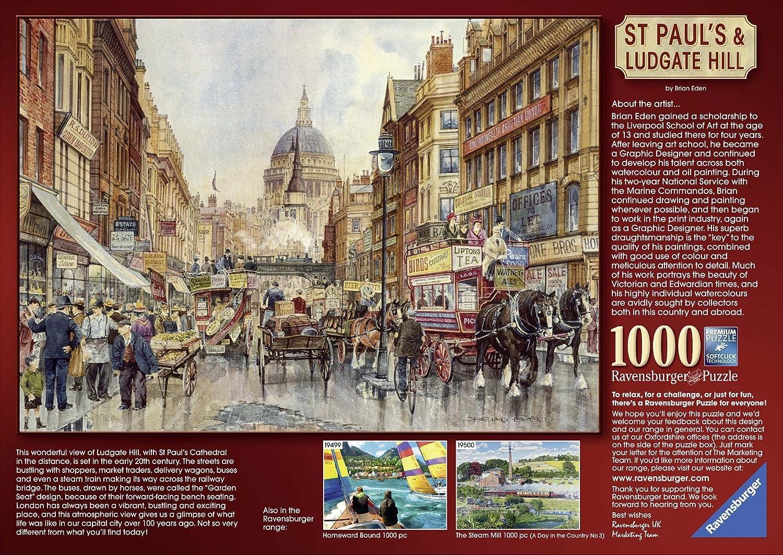 Ravensburger - Puzzles 1000 piezas, diseño Saint Paul Londres (19502 2): Amazon.es: Juguetes y juegos