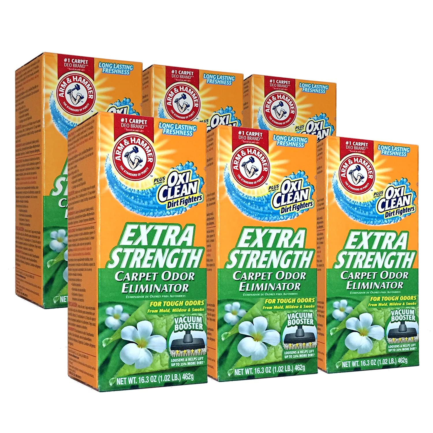 New 361970 Arm Hammer Extra Strengh 16.3Z Carpet Odor Eliminator (6-Pack) Laundry Detergent Cheap Wholesale Discount Bulk Cleaning Laundry Detergent Firesale