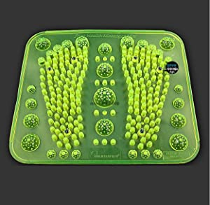 Reflexology Foot Massage Mat Stimulates Blood Circulation Acupressure Feet Massager Plate Board with Magnet (2. Foot Shape Mat)
