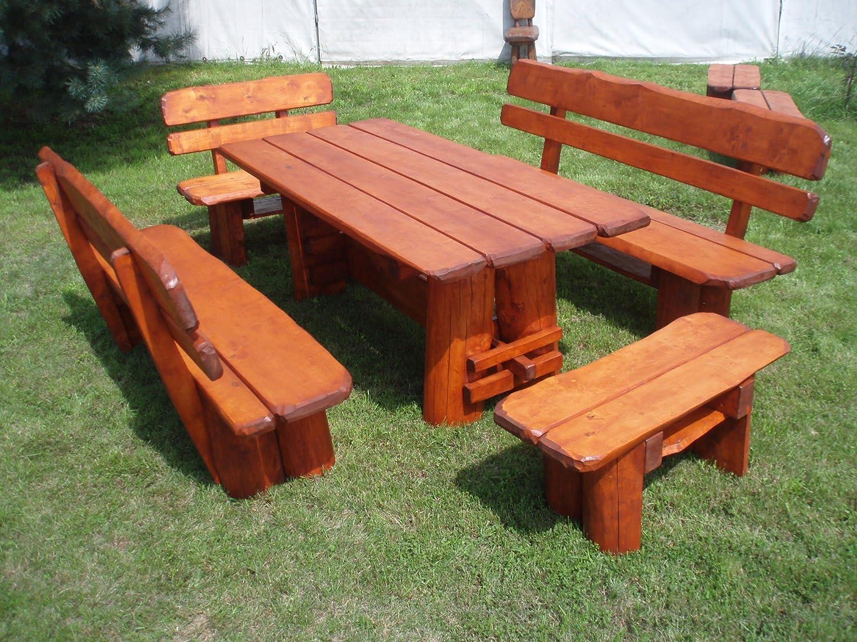 Timberline Sitzgruppe Pure Nature 200 cm Outdoor Gartenmöbel, Farbe:Teak;Material:Eiche