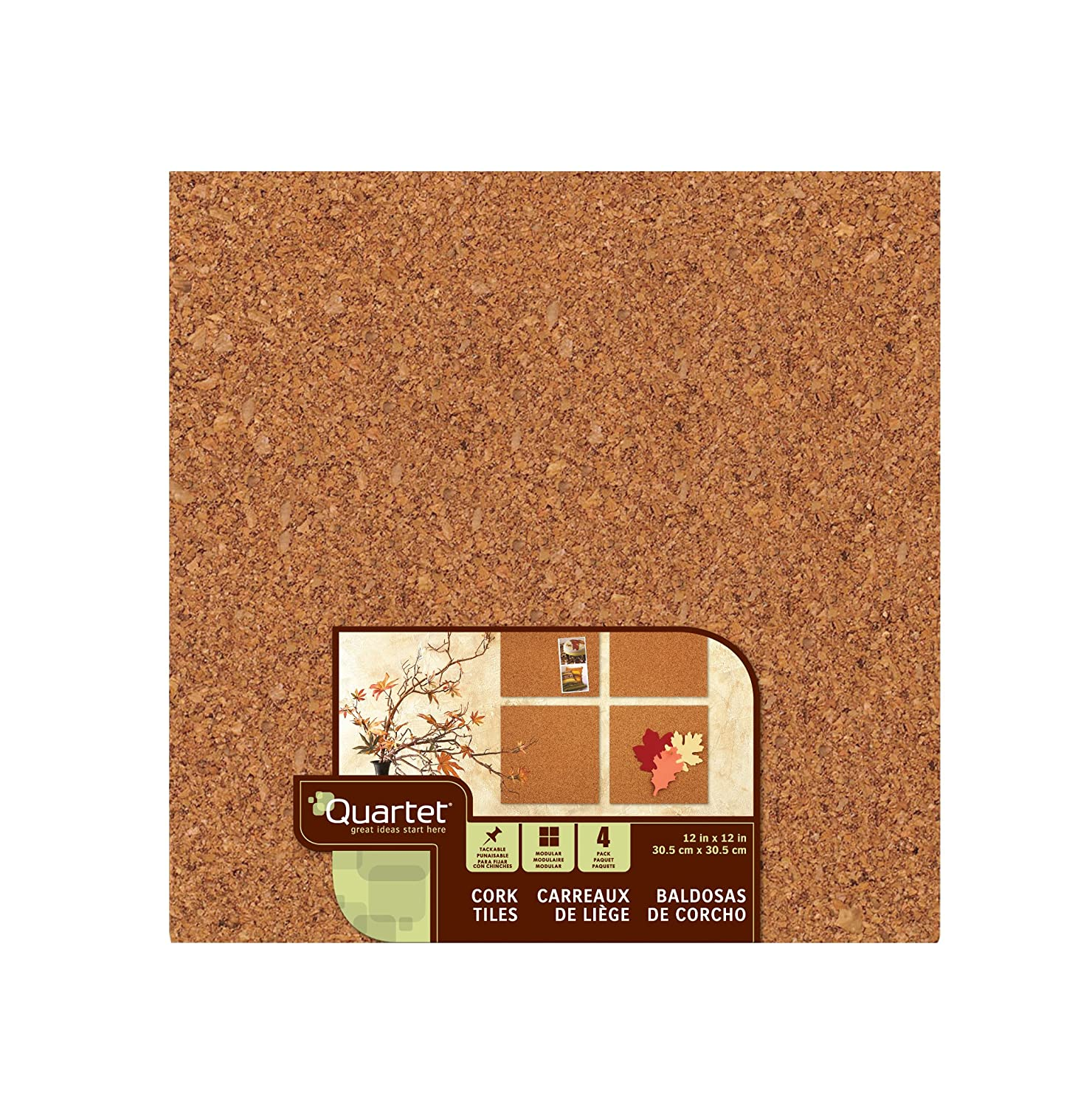 Amazon quartet cork tiles 12 x 12 cork board bulletin amazon quartet cork tiles 12 x 12 cork board bulletin board mini wall 4 pack 102 bulletin boards office products dailygadgetfo Images
