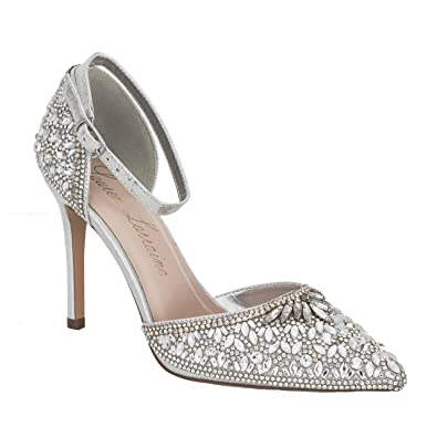 0429108f52d Image Unavailable. Image not available for. Color  Rose SILVER Crystal  Embellished d Orsay Pump LAUREN LORRAINE ...