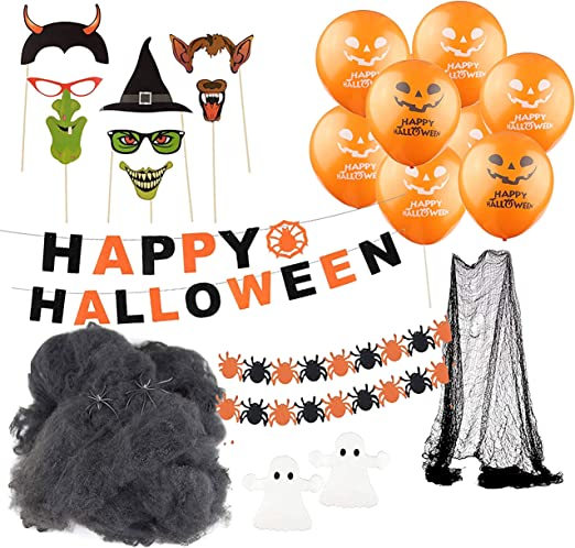 Halloween Deko Dekoration Grusel Set Mit Uber 30 Teilen Fur Haus Tisch Garten Amazon De Kuche Haushalt