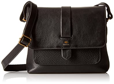 f560b0823 Fossil Women's Crossbody Sling Bag (Black): Fossil: Amazon.in: Shoes ...