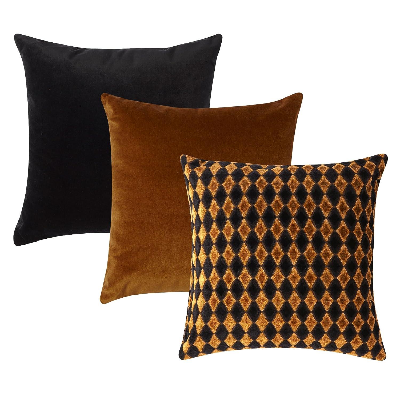 枕Pops Untamedホームラグジュアリーコレクションby、Designer Throw枕セット、(3 ) 18 x 18   B07F22F312