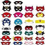 QH-Shop Máscaras de Superhéroe, Máscaras de Fieltro Mitad Máscara de Cosplay con Cuerda Elástica Máscaras de Ojos para…