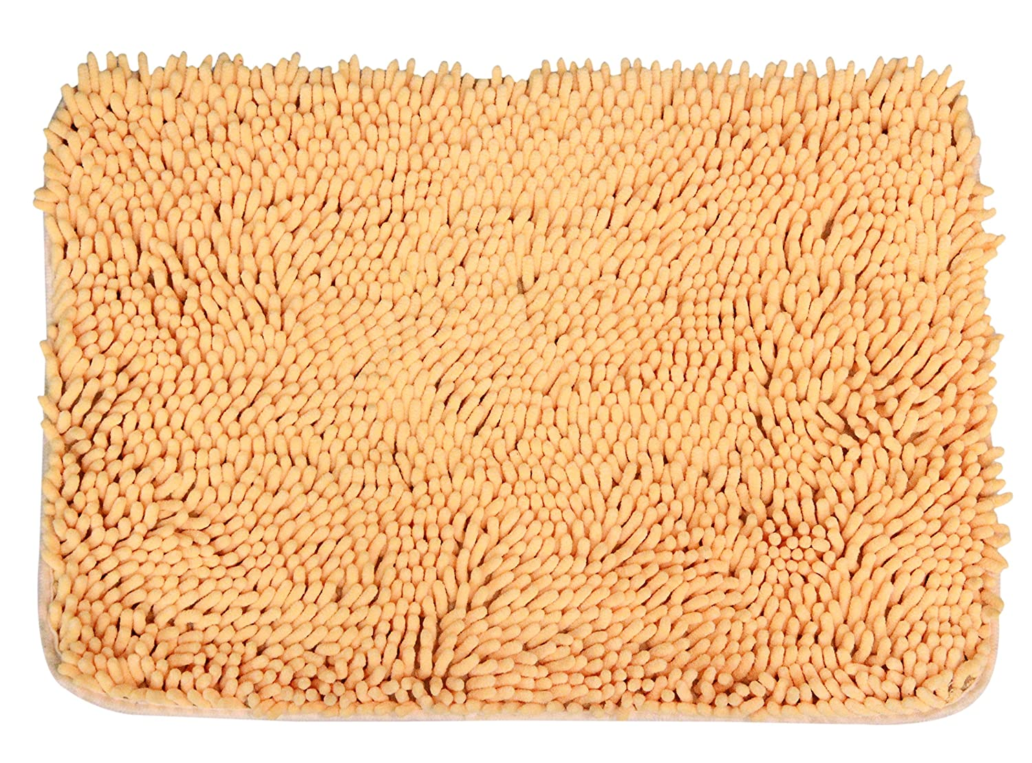 JustNile Microfiber Soft Bathroom Floor Mat/Shower Rug - 16 X 24 Yellow COMIN16JU004617
