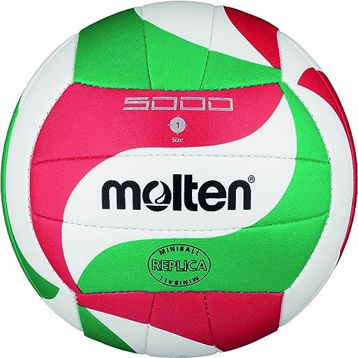 27 opinioni per Molten V1M300 Mini palla da pallavolo, Ø 15 cm, colore: Bianco/Verde/Rosso