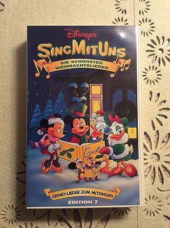 Disney Weihnachtslieder.Sing Mit Uns Die Schönsten Weihnachtslieder Vhs Amazon De Vhs