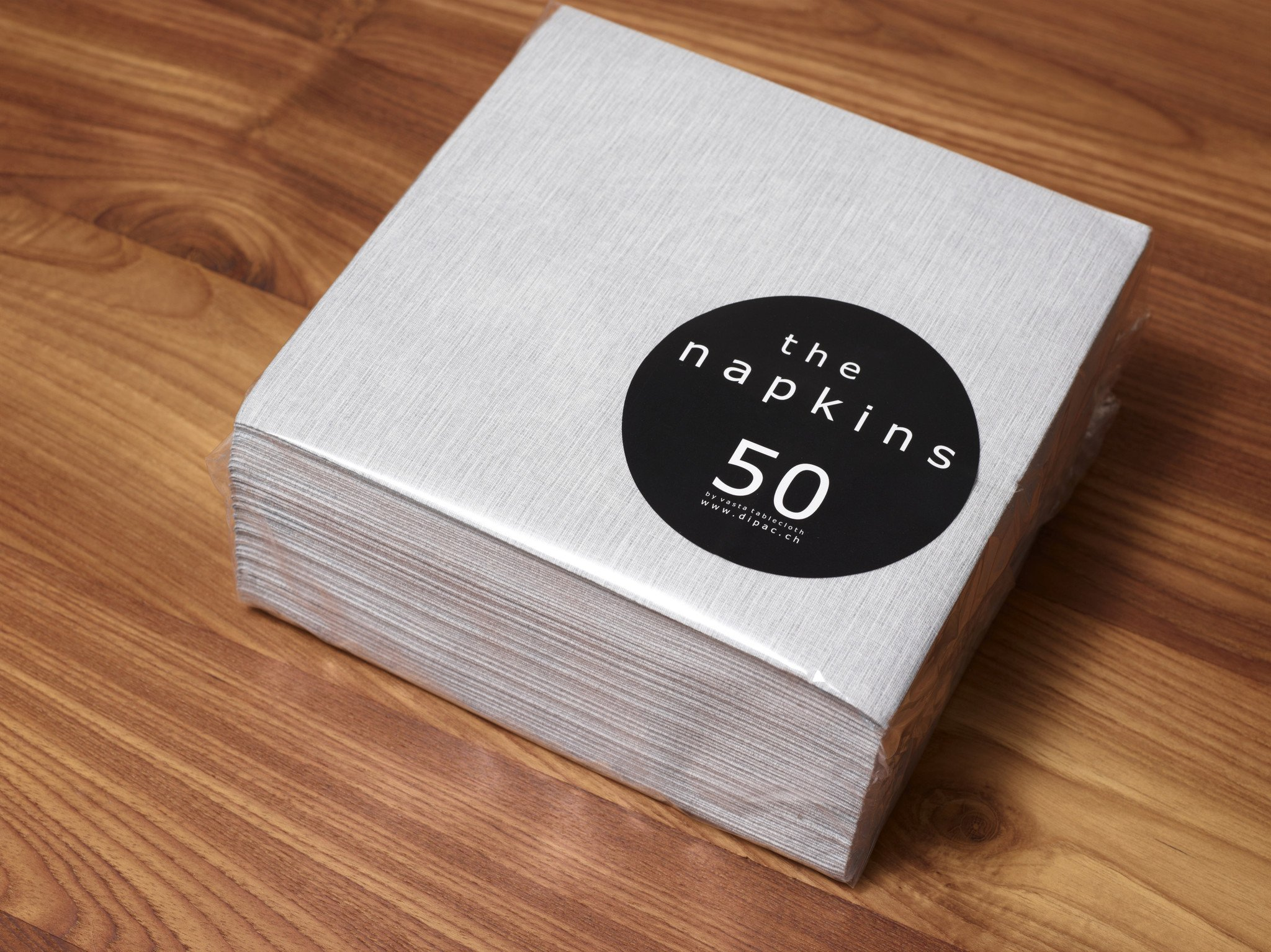 The Napkins Deluxe Classic Entertaining Napkin - Silver Grey Luxury Paper Napkin - Feels Like Cloth by The Napkins (Image #1)