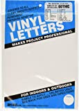 "Permanent Adhesive Vinyl Letters and Numbers .75""-Gothic/White"
