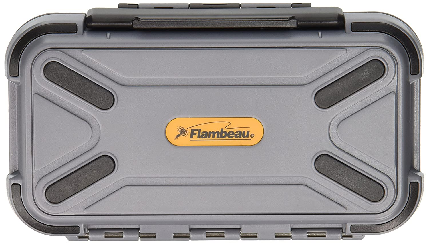 Flambeau Tackle Blue Ribbon Fly Box with Two Compartment (Grey, 6.25x3.75x1.875-Inch) 3936CC