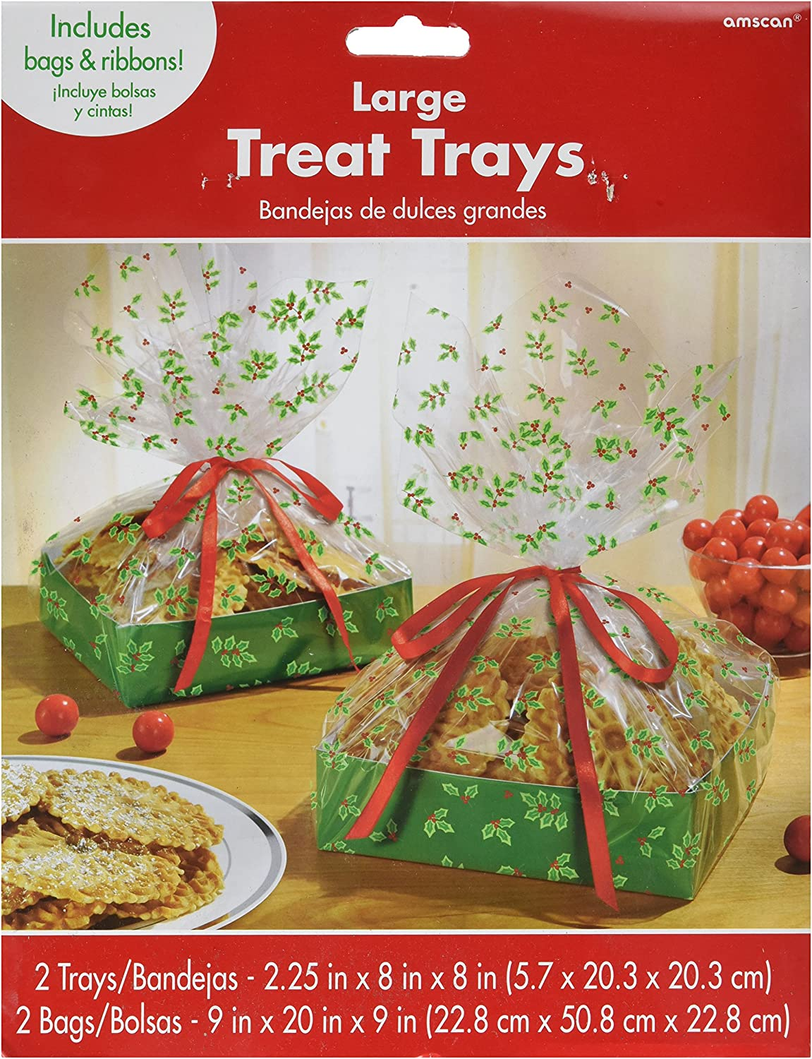 Christmas Holiday Plastic Tray Value Pack, 2 Ct. | Party Tableware