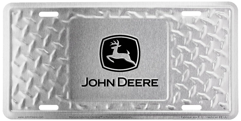 Chroma 55011 John Deere Treadplate Stamped Metal Tag