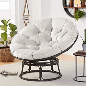 Better Homes & Gardens Papasan Chair with Fabric Cushion (Pumice Gray)