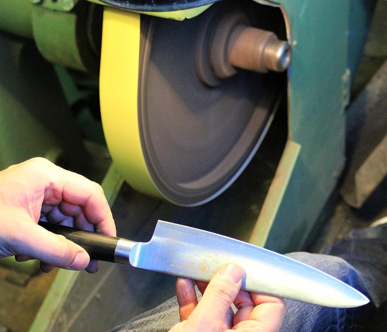 13 MONTHS GUARANTY Sternsteiger coltello Profffesionale NERO DAMASCOMESSER