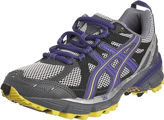 Asics - Zapatillas para Correr en montaña de Material Sintético para Mujer Plateado Lightning/Purple/Charcoal: Amazon.es: Zapatos y complementos