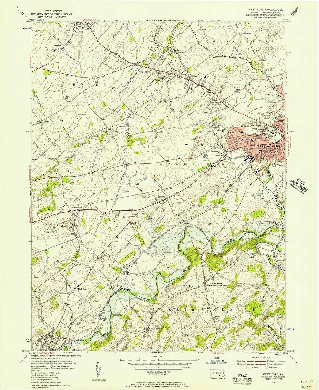 Amazon.com: Pennsylvania Maps - 1954 West York, PA USGS ... on map detroit mi, map buffalo ny, map roanoke va, map jackson tn, cumberland county, map charlotte nc, chester county, map watertown ny, map madison wi, map wichita falls tx, map west palm beach fl, map sherwood oregon, franklin county, allegheny county, map lincoln ne, somerset county, map birmingham al, monroe county, washington county, map houston tx, adams county, delaware county, lancaster county, schuylkill county, map nashville tn, montgomery county, map los angeles ca, map cincinnati oh, map windsor ca, map niagara on the lake, map troy ny, dauphin county, map syracuse ny,