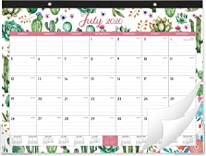"""2020-2021 Desk Calendar - 18 Months Desk Calendar, 22"""" x 16.8"""", Large Monthly Desk or Wall Calendar, Jul 2020 - Dec 2021, Large Ruled Blocks, Perfect for Planning and Organizing for Home or Office"""