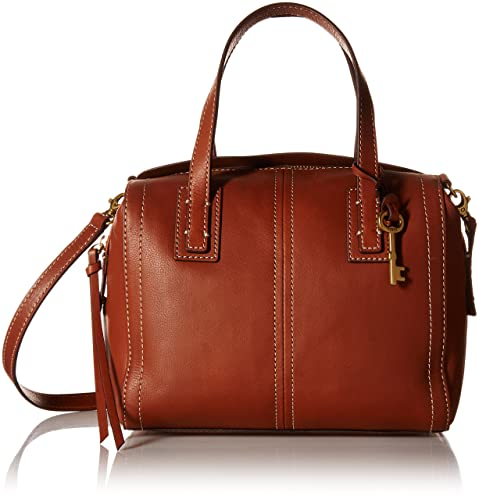7295f13399 Fossil Women s Satchel (Brown)  Fossil  Amazon.in  Shoes   Handbags