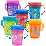 Nuby 1pk No Spill 2-Handle 360 Degree Printed...
