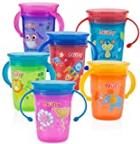 Amazon Price History for:Nuby 1pk No Spill 2-Handle 360 Degree Printed Wonder Cup - Colors May Vary