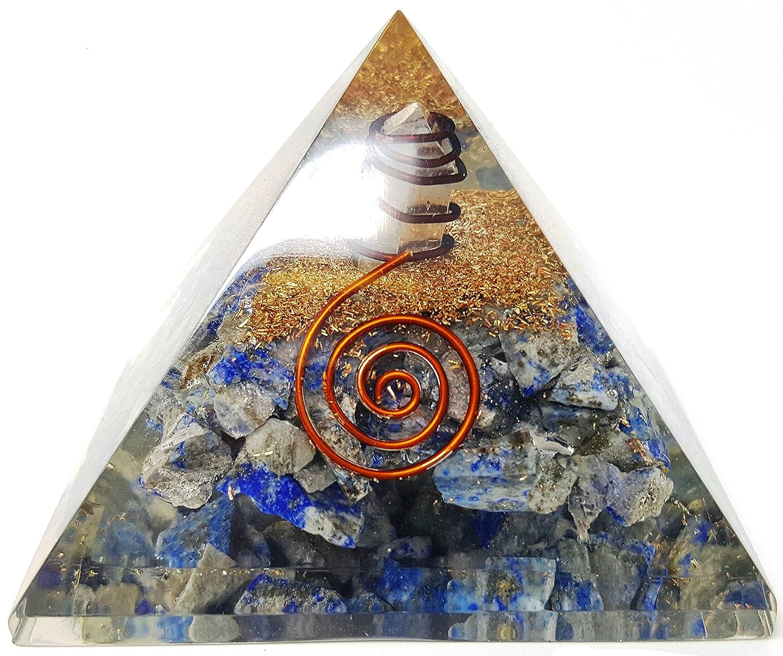 Auramore® Chakra Orgonite Pendule dans une pochette cadeau, outil de protection contre les Rayonnements électromagnétiques pour équilibrage de Dore, DE L'Énergie, et de méditation