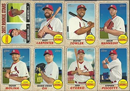 2017 Topps Heritage St Louis Cardinals Team Set 13 Cards