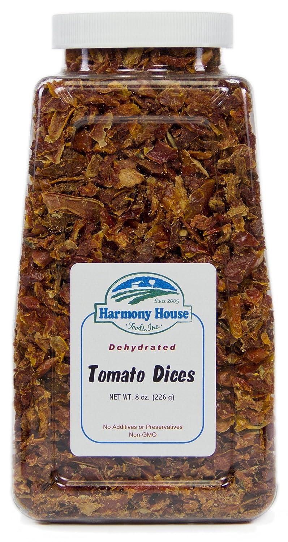 Harmony House Foods, Dried Tomatoes, Diced, 8 Ounce Quart Size Jar