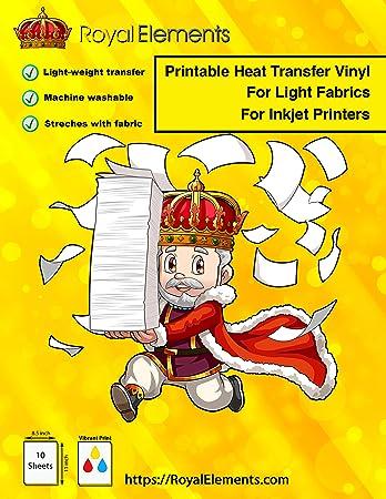 Amazon.com: Royal Elements HTV - Papel de transferencia para ...