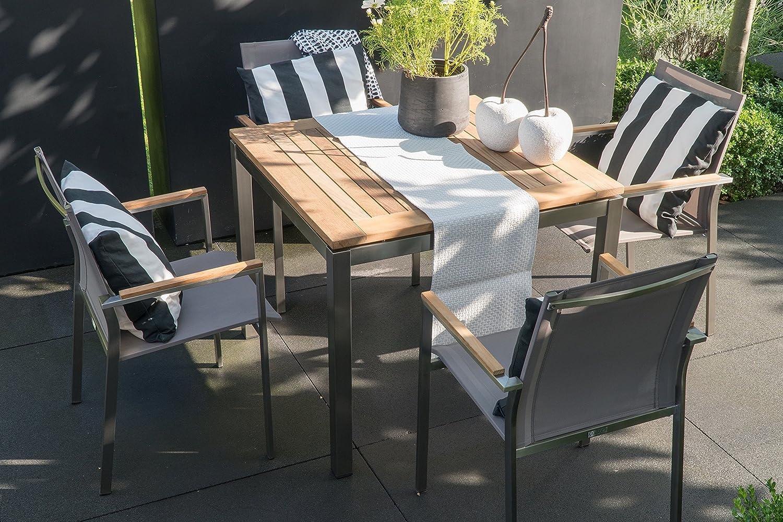 Matodi Nexus Gartenmöbel Set 5 teilig Sitzgruppe Edelstahl online kaufen