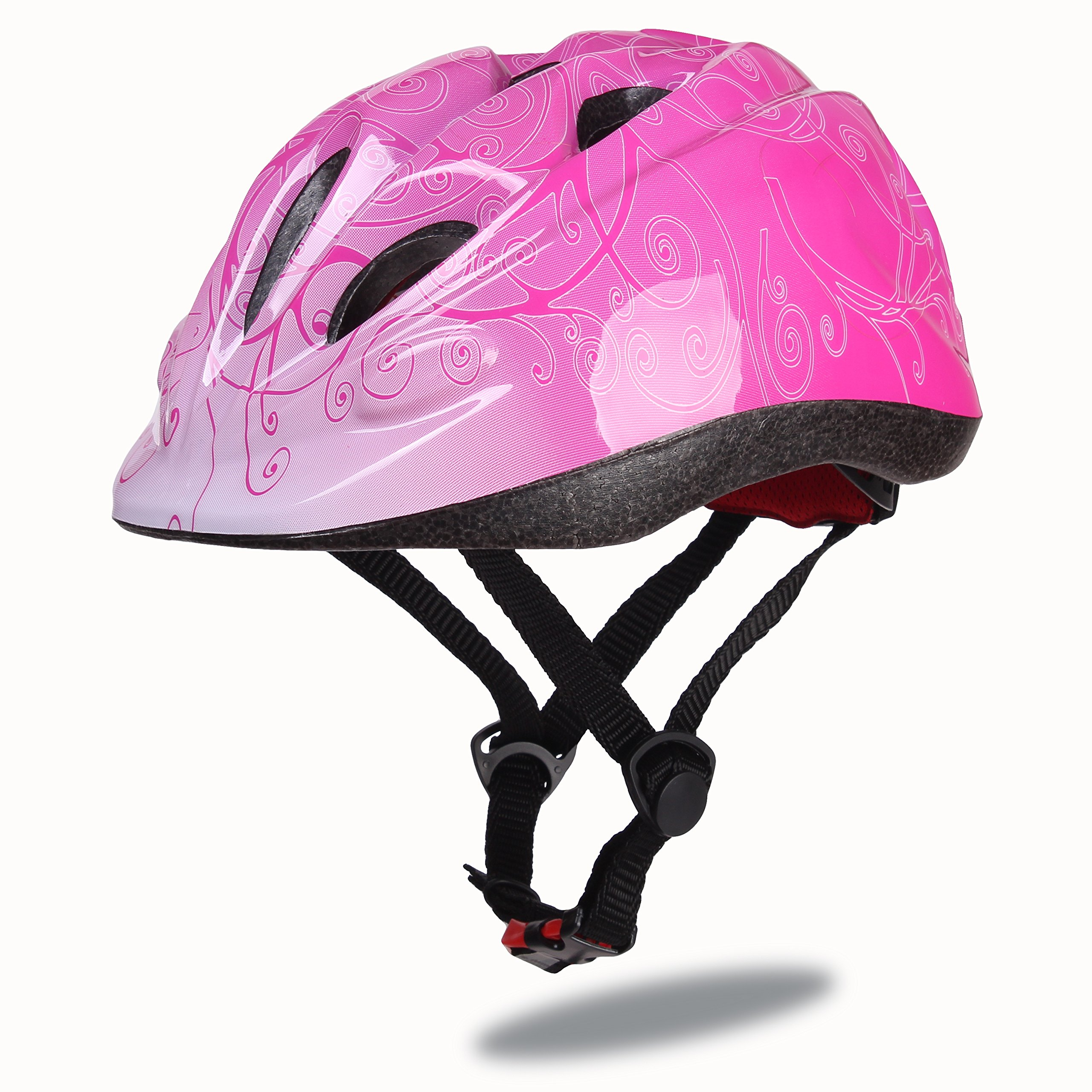 Dostar Kids Bike Helmet – Adjustable Helmet from Ages 3-6 - Cycling Scooter Multi-sport Durable Kid Bicycle Helmets Boys and Girls will LOVE - CSPC Certified for Safety and Comfort (Red)