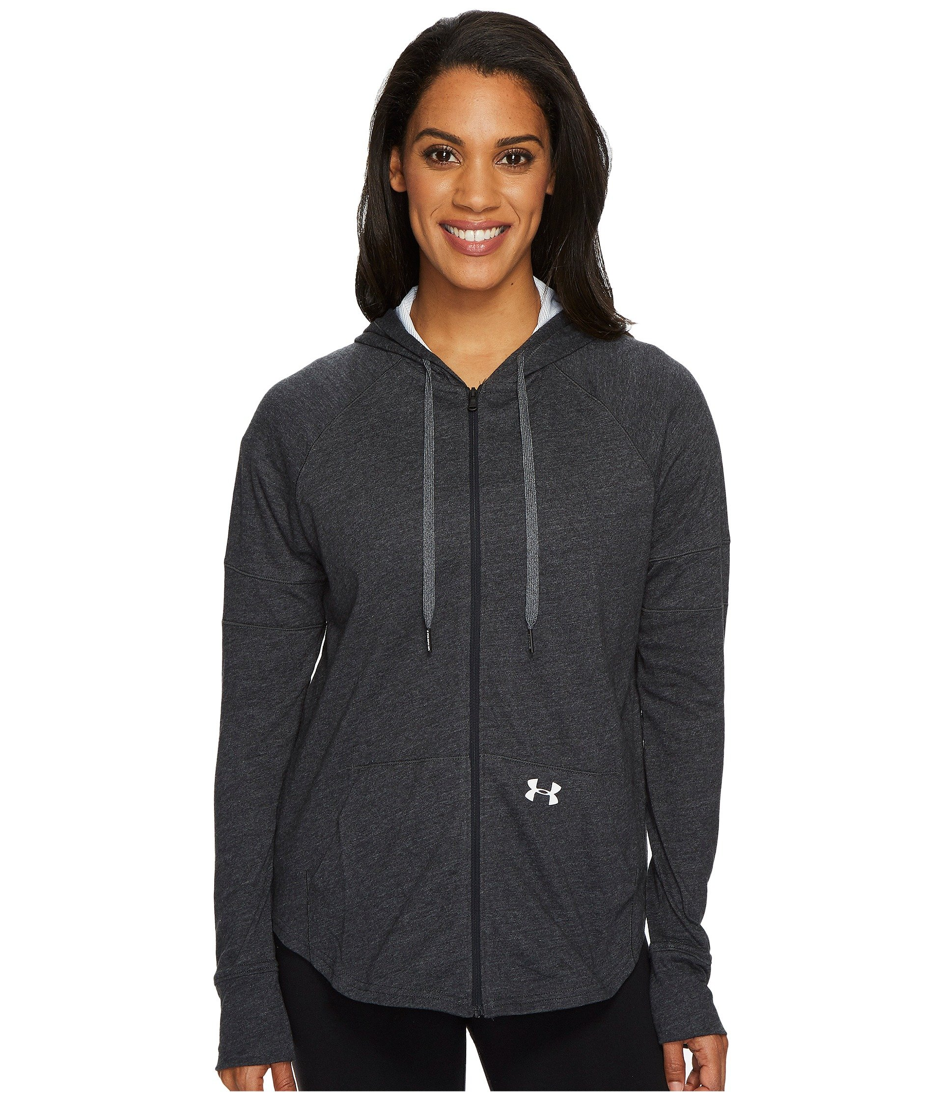 Under Armour Women's Sportstyle Full Zip Hoodie, Black (001)/Tonal, Large by Under Armour