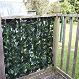 Artificial Ivy 2 Leaf Hedge Privacy Screening Garden Fence 1.5m high x 3m long