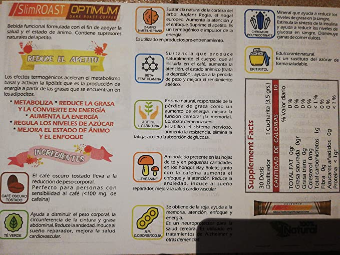 VALENTUS SLIM ROAST OPTIMUM DARK ROAST COFFEE 6 SOBRES NUEVO EN ESPAÑA! CAFÉ PERDIDA PESO ADELGAZAR SUPRESOR APETITO CONTROL PESO