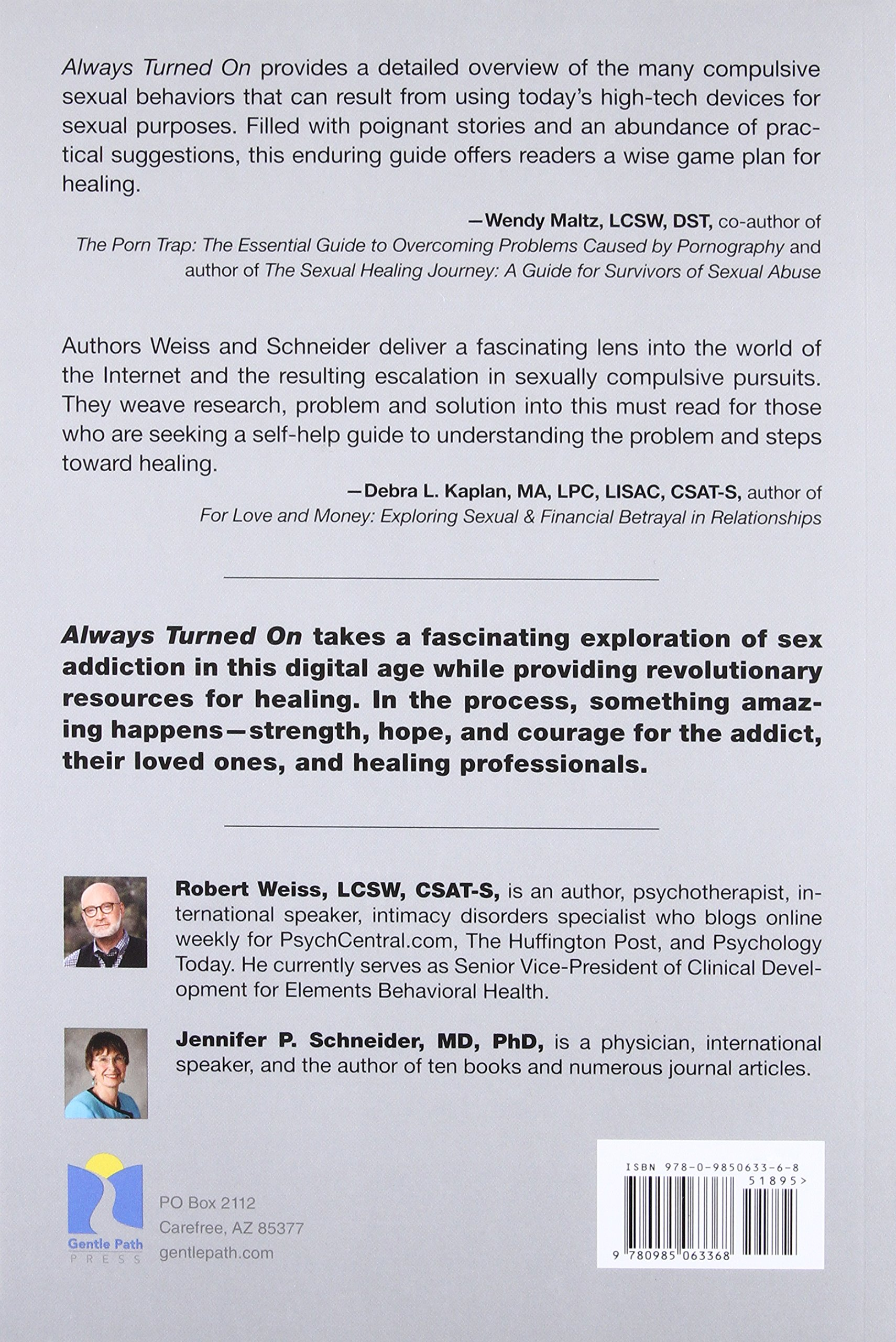Always Turned On: Sex Addiction in the Digital Age: Robert Weiss, Jennifer  P. Schneider: 9780985063368: Amazon.com: Books