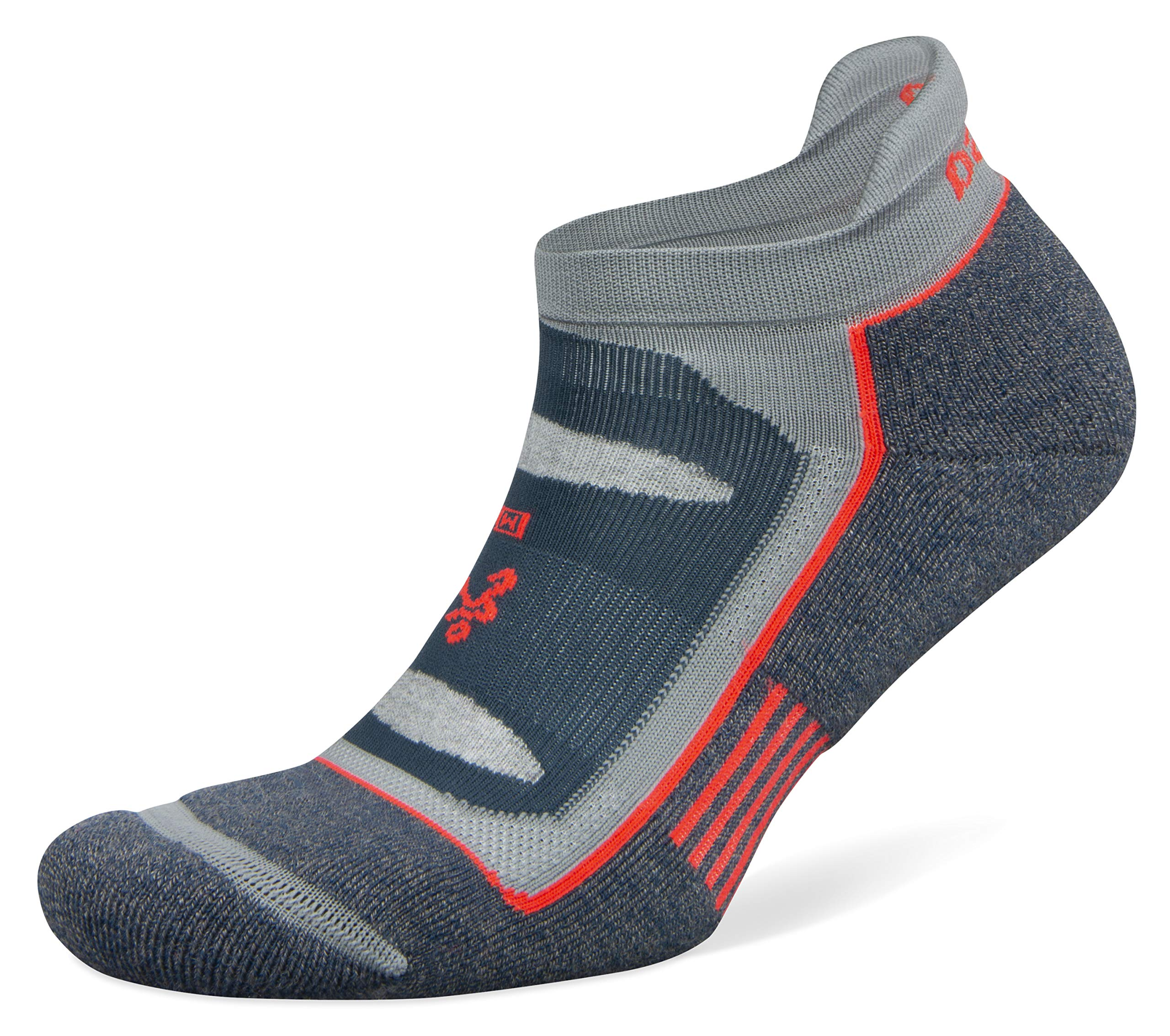 Balega Blister Resist No Show Socks for Men and Women (1 Pair), Legion Blue/Grey, X-Large by Balega