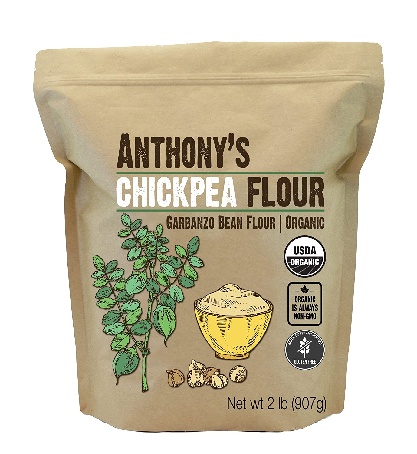 Anthony's Organic Chickpea Flour/Garbanzo Bean Flour