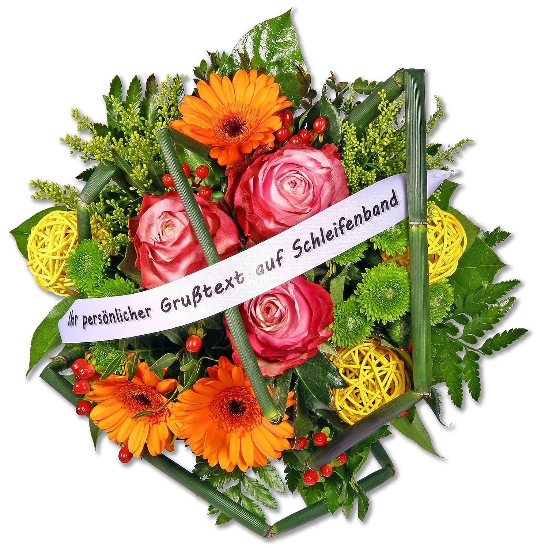 Gratis Gru/ßkarte+Wunschtermin+Frischhaltemittel+Geschenkverpackung Blumenstrau/ß Blumenversand Liebe Gr/ü/ße