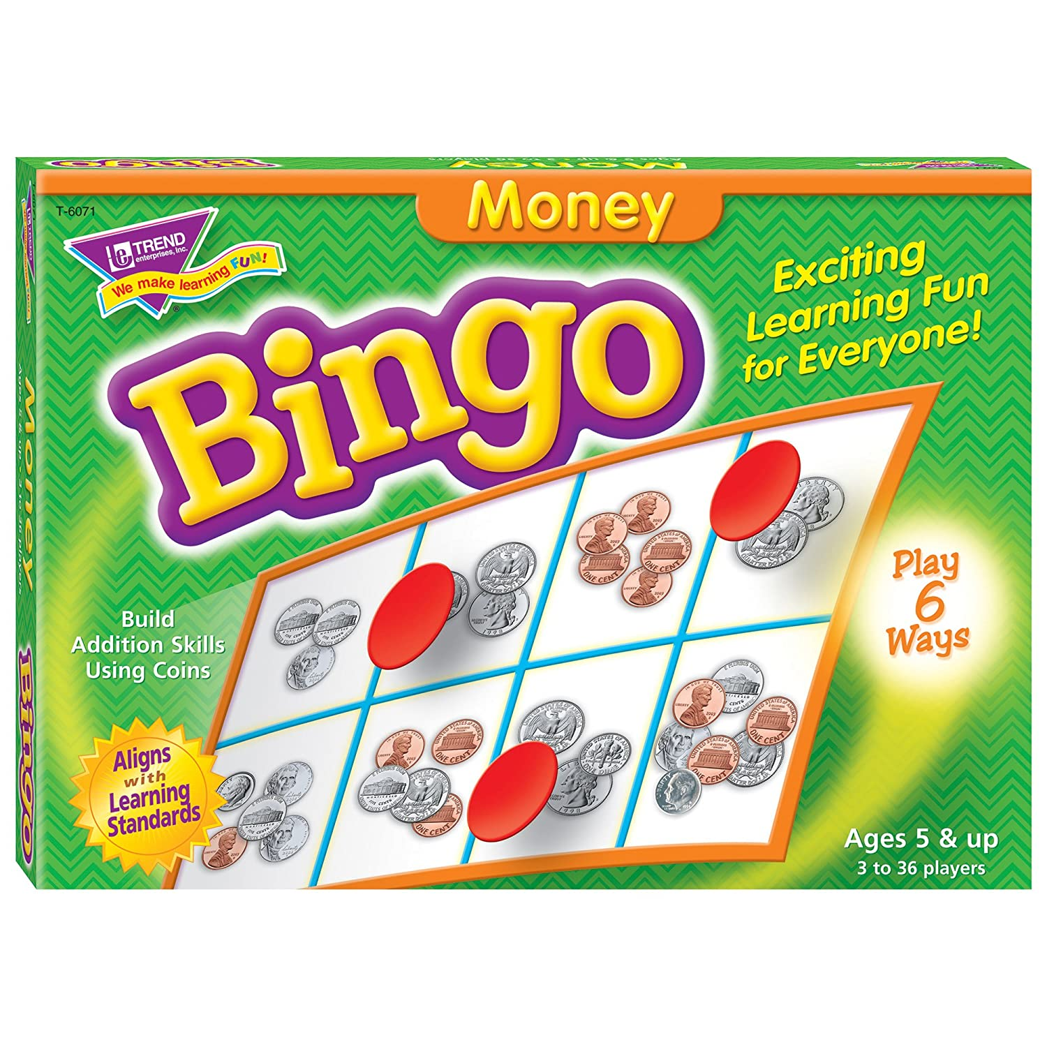 Young Learner Bingo Game, Mnney