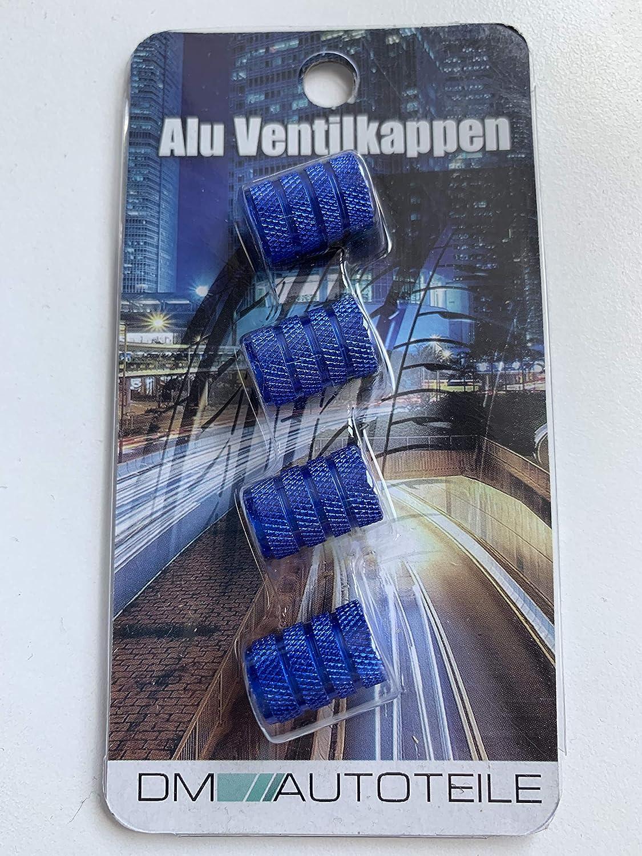 Dm Autoteile Aluminium Auto Ventilkappen 4 Er Set Versch Farben Mit Dichtung Blau Auto