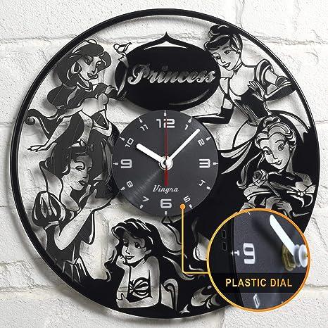 Amazon.com: Disney Princess vinilo Reloj de pared habitación ...