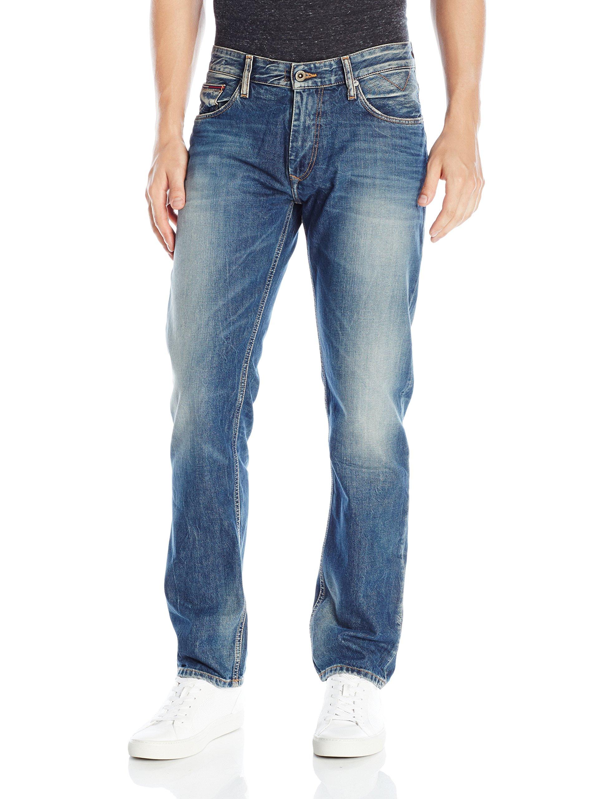 Tommy Hilfiger Denim Men's Jeans Original Ryan Straight Fit Jean, Penrose Blue, 38x30