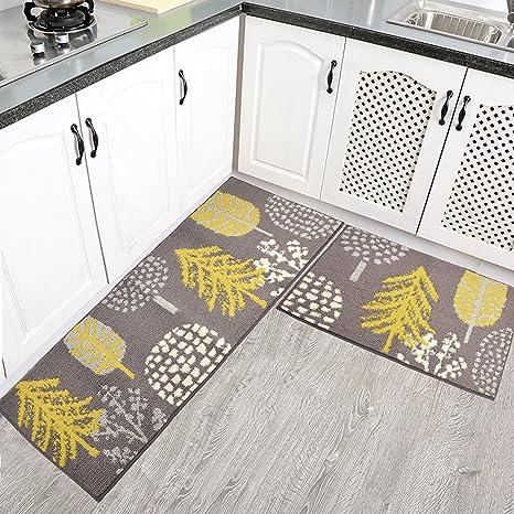 Amazon Com Homcomoda 2 Pieces Kitchen Mats Washable Runnner Rugs