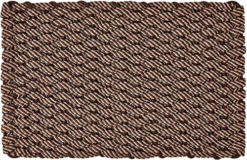 Rockport Rope Doormats 2034269 Indoor Outdoor Doormats, 20 x 34 , Brown Tan with Brown Insert